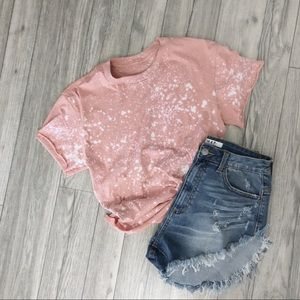 NEW🌺Bleached Pink Boho Top, S-3X